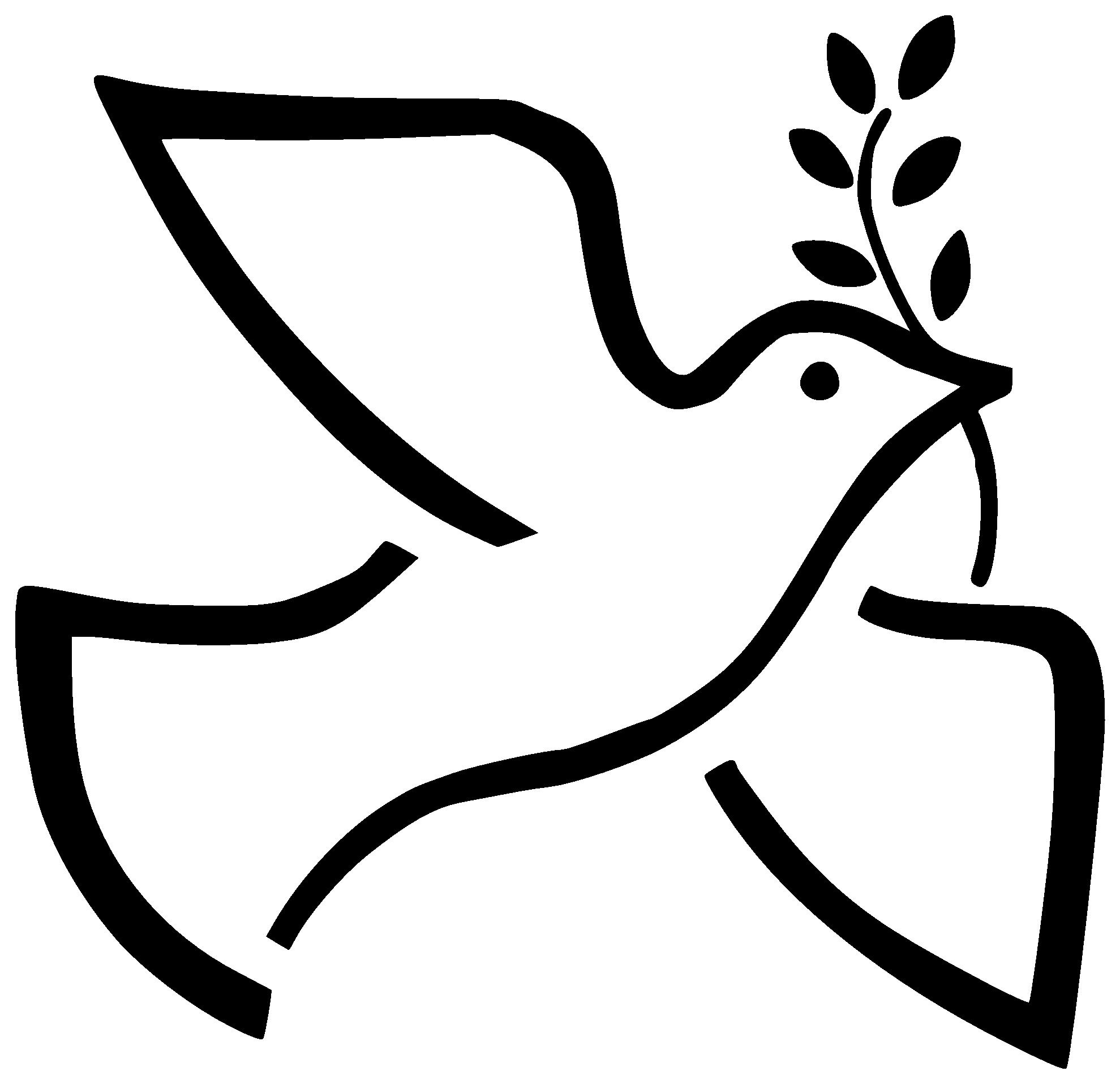 1979x1915 Peace Dove Clipart Black And White