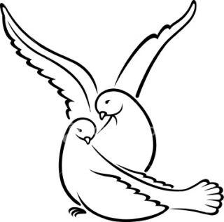 320x317 White Dove Clip Art