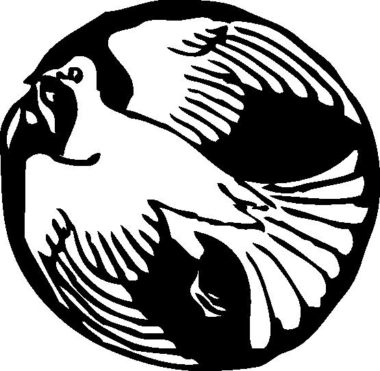 555x541 Clip Art Dove In Circle Black White Line Art Svg