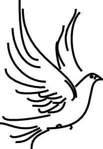 207x300 Dove Clipart Free