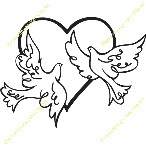 500x500 Dove Clipart Two Heart