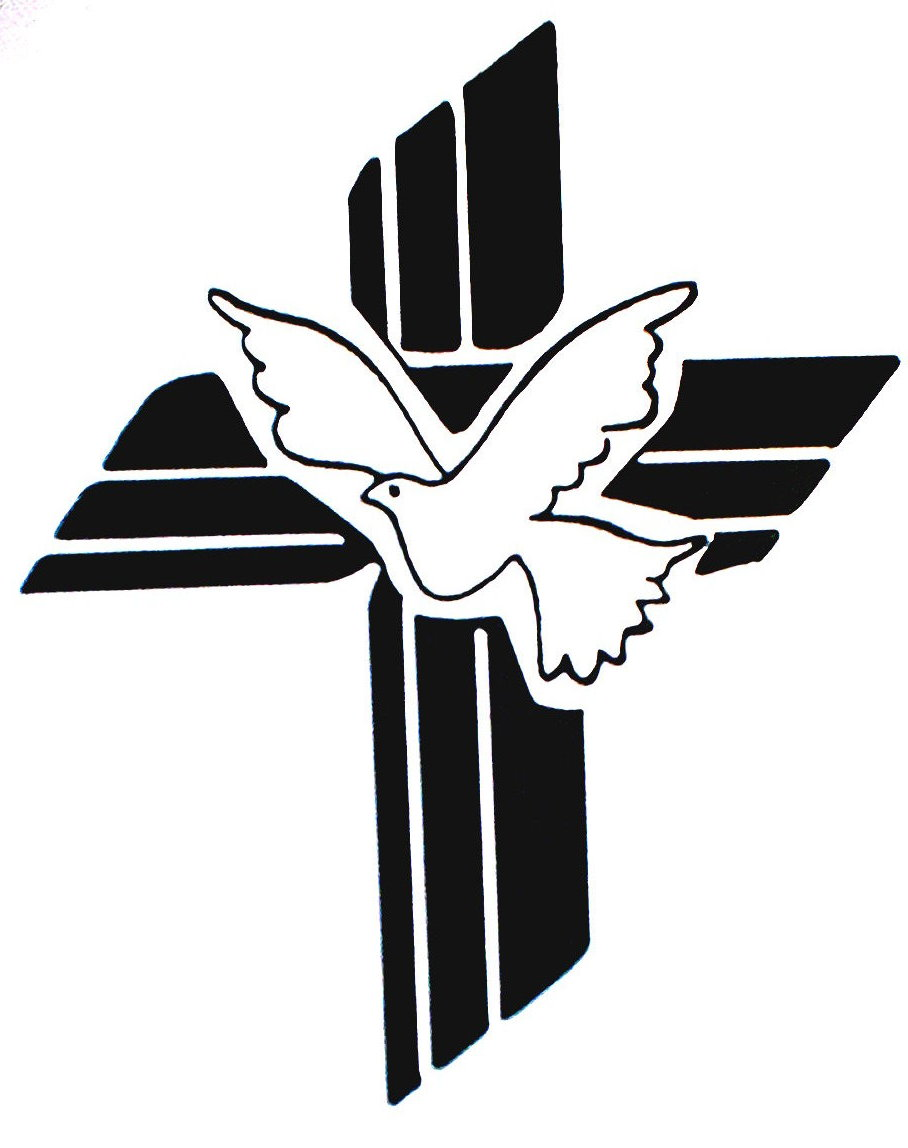 908x1148 Doves Funeral On A Cross Clipart