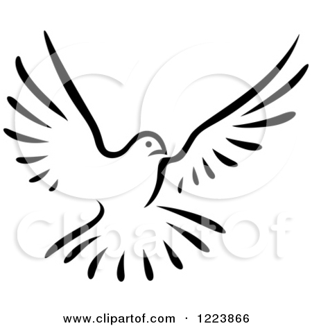 450x470 Flying Doves Clipart