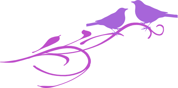 600x299 Love Birds Clip Art