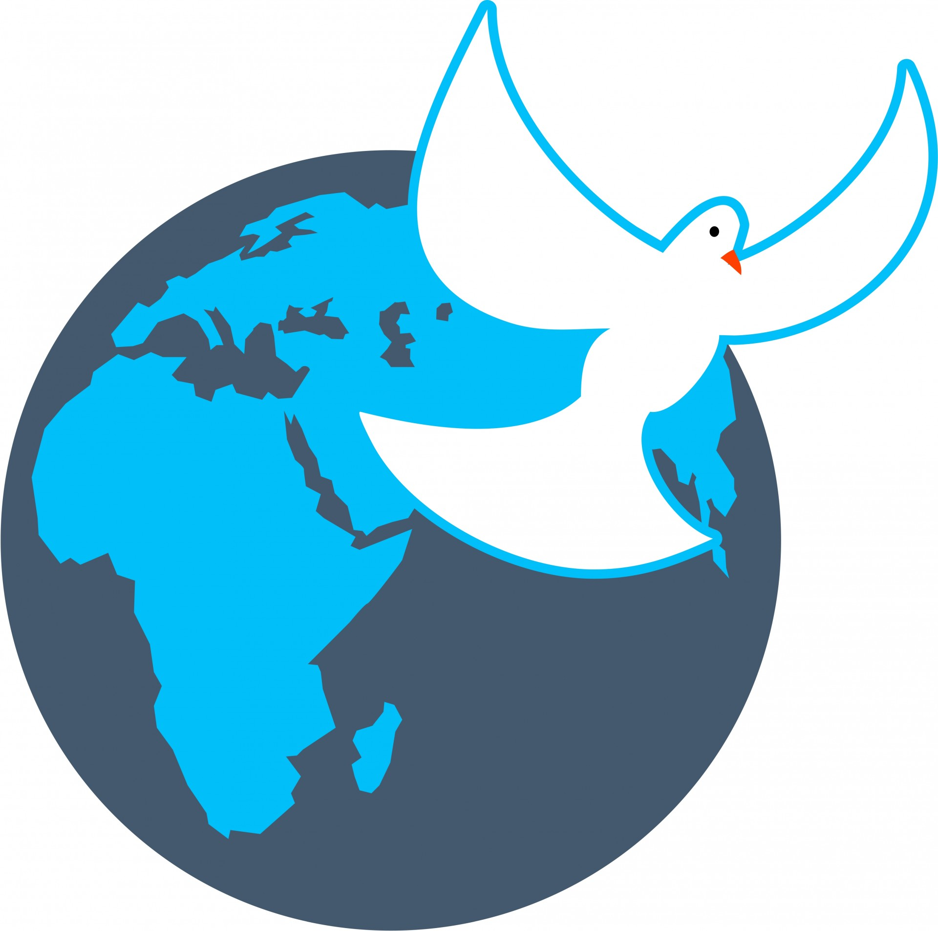 1920x1905 World Globe Amp Dove Clip Art Free Stock Photo