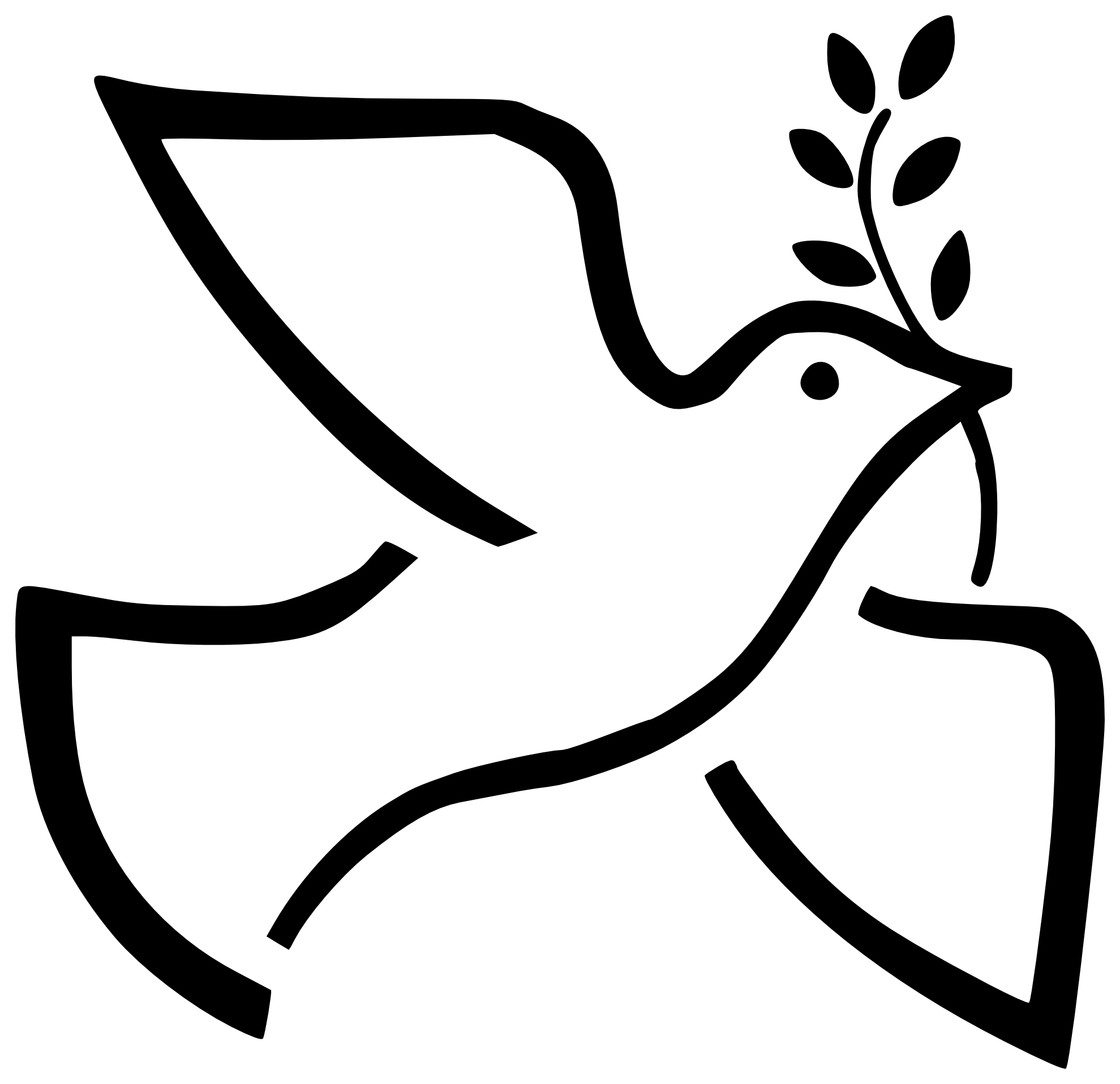 Dove Clipart Silhouette | Free download best Dove Clipart