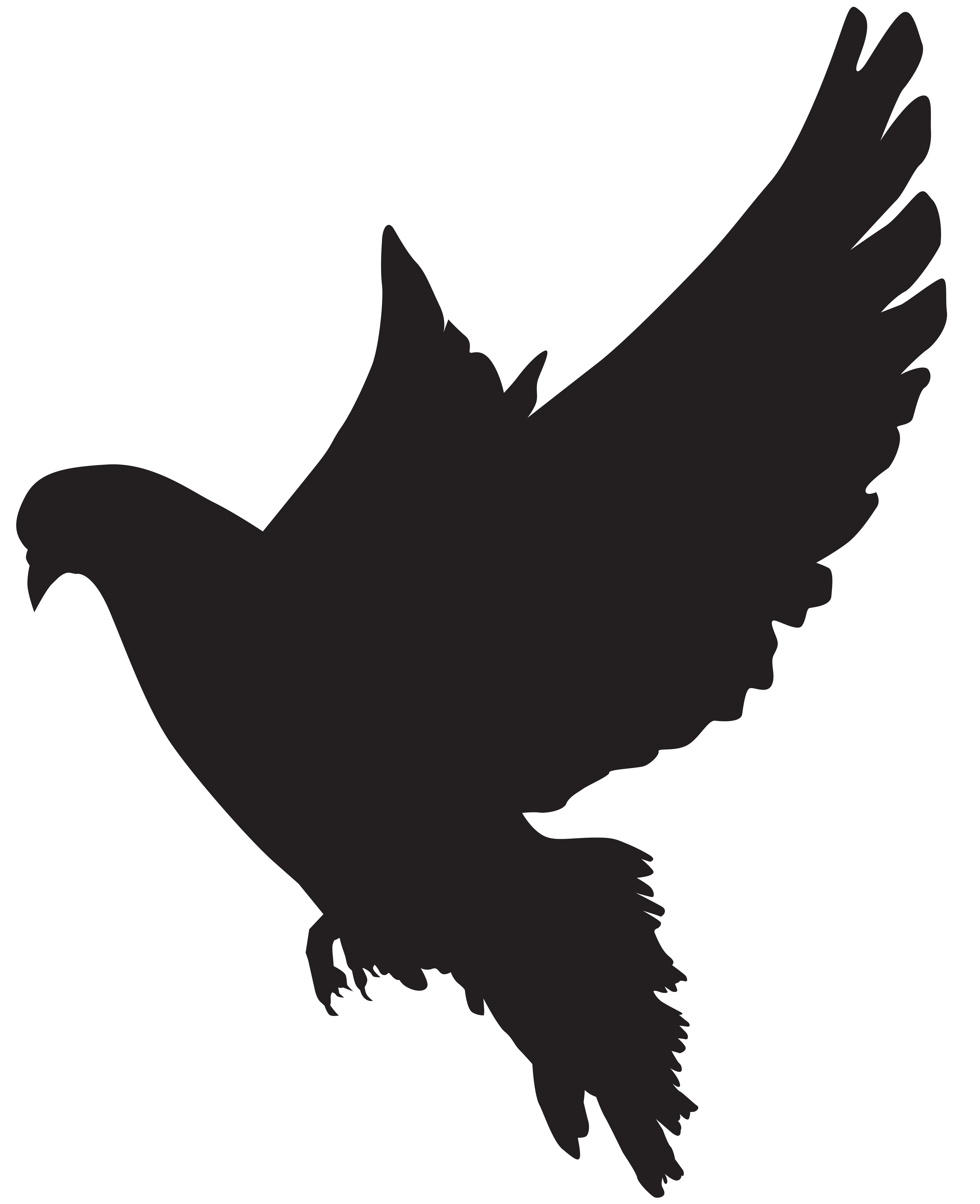 6510x8000 Dove Silhouette Png Clip Art Imageu200b Gallery Yopriceville