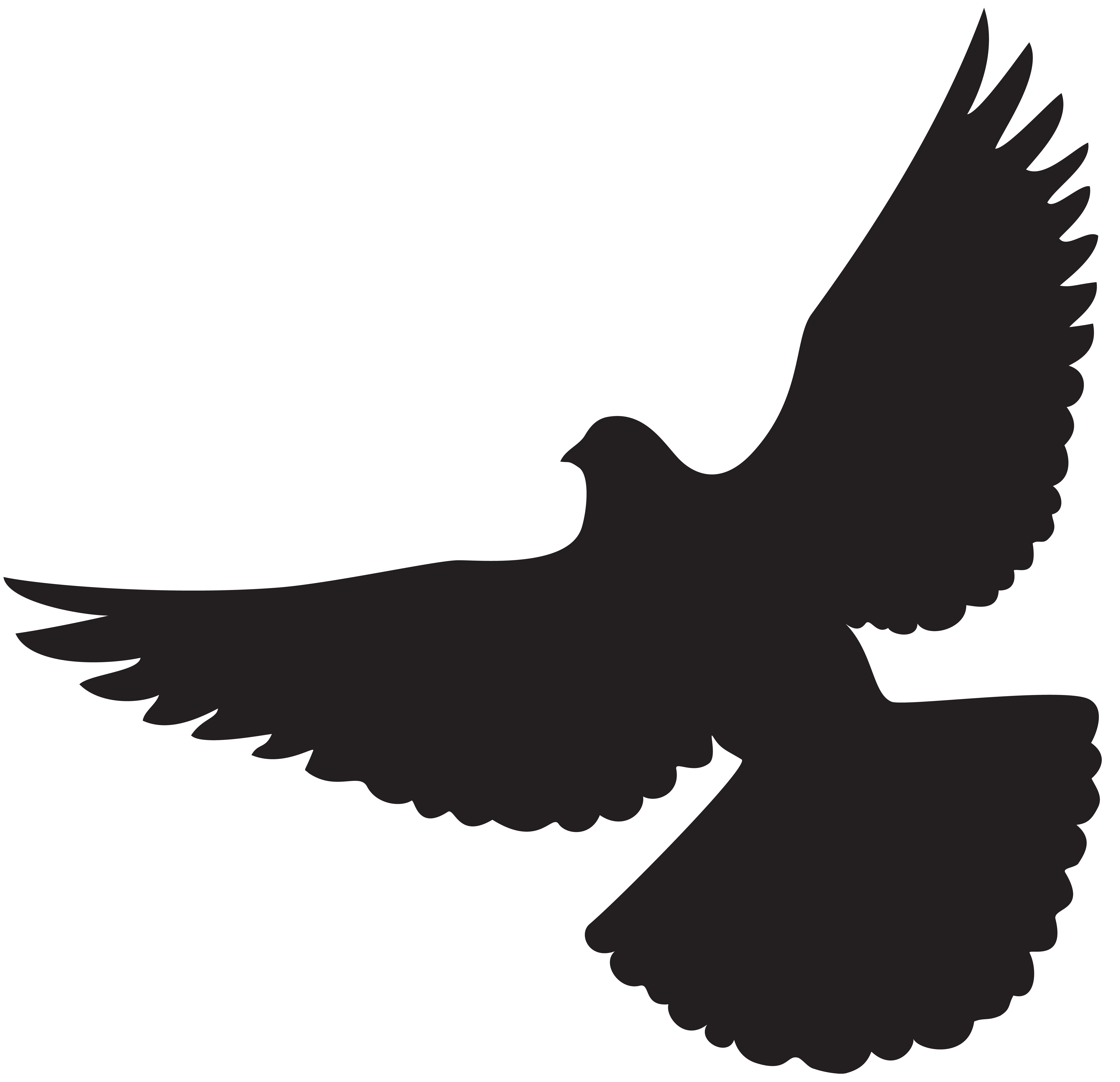 8000x7727 Dove Silhouette Png Clip Artu200b Gallery Yopriceville