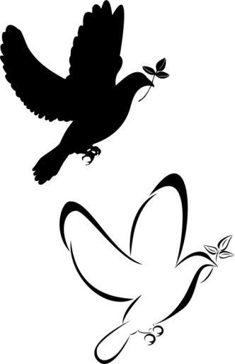 332x514 Dove Clipart Tatoo