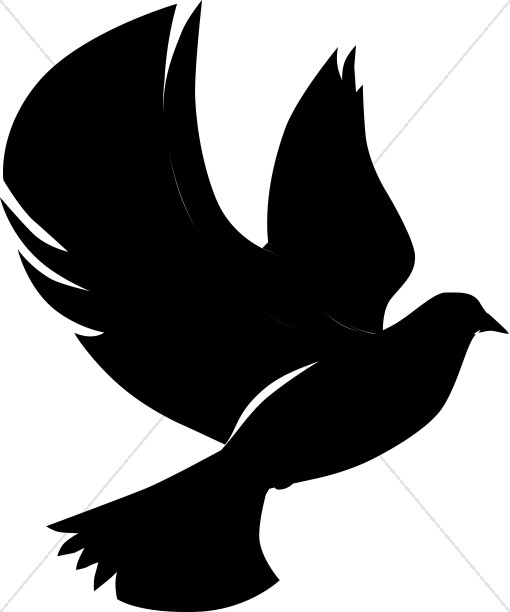 510x612 Flying Dove In Silhouette Dove Clipart