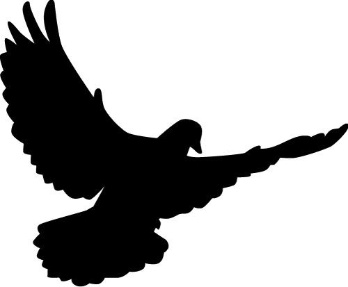 500x413 Peace Dove Silhouette Vector Illustration Free Vector