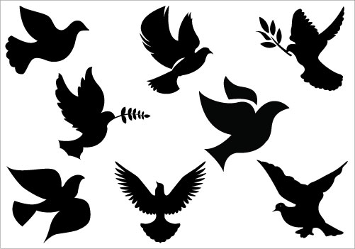 501x351 White Dove Clipart Silhouette Flying