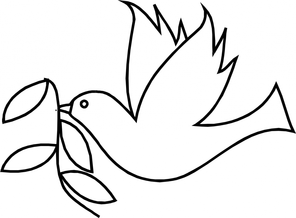 1024x754 How To Draw A Dove Clipart Best