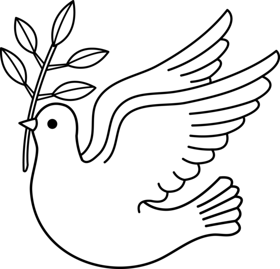 550x527 Dove Clipart Black And White