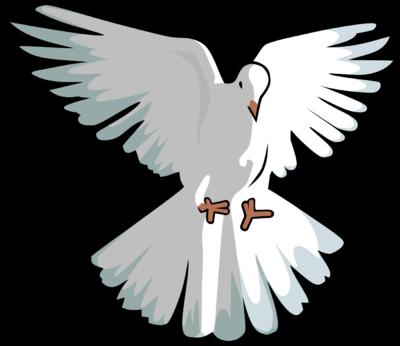 400x346 Image Hovering Dove Clip Art