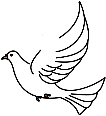 445x485 Mourning Dove Clipart Funeral Dove