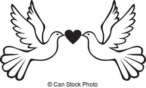 300x181 Mourning Dove Clipart Heart
