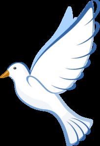 204x299 White Dove Clipart
