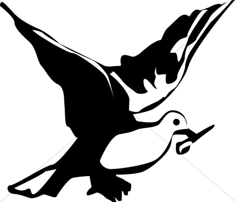 776x663 Black And White Dove Clipart