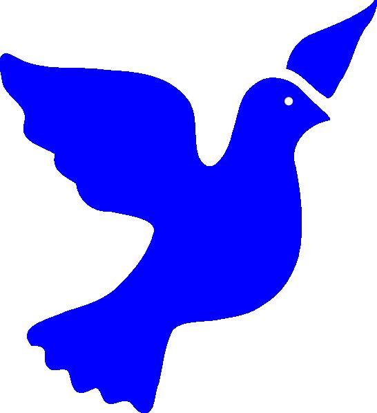 546x597 Blue Peace Dove Png, Svg Clip Art For Web