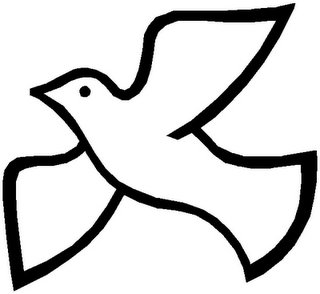 320x294 Funeral Clipart Dove Outline