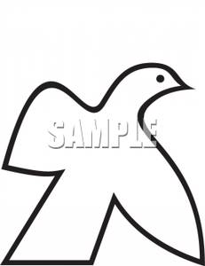 231x300 Image Black And White Outline Of A Dove