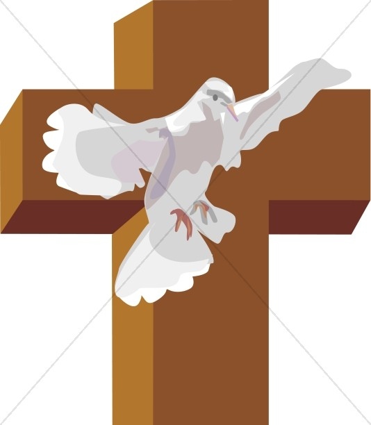 534x612 Dove With Cross Cross Clipart