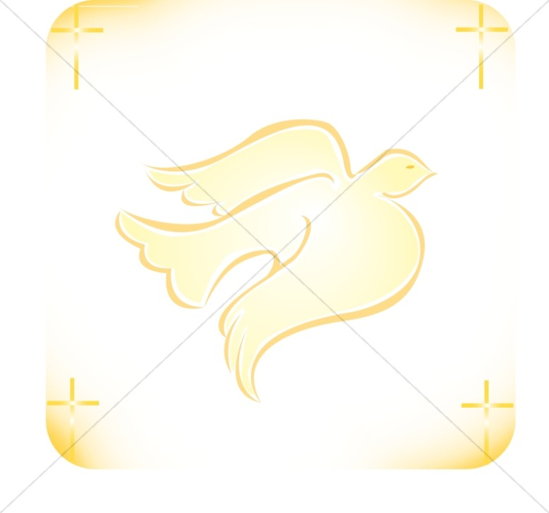 776x725 Dove With Cross Corners Dove Clipart