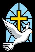 134x200 Holy Spirit Church Clipart