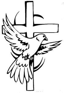 209x300 Window, Car, Truck, Religious, Wall, ( Cross With Dove) Vinyl