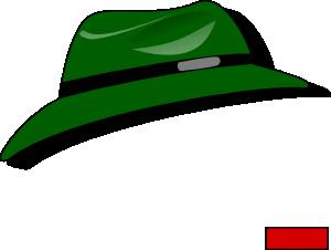 300x226 Green Fedora Clip Art