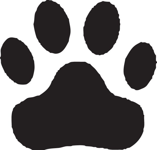 600x573 The Best Paw Print Clip Art Ideas Paw Print