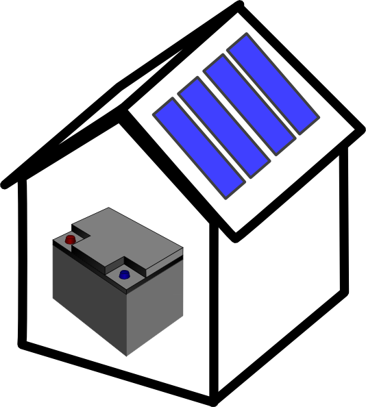 534x594 House Solar Battery Clip Art