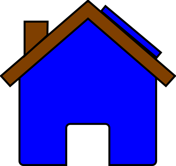 600x565 Blue House And Solar Panel Clip Art