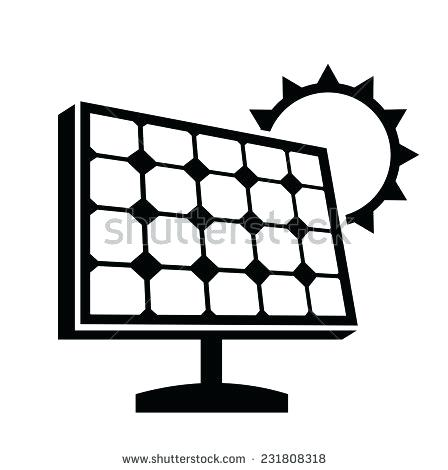 448x470 Solar Panel Clipart Vector Black Solar Panel Icon On White
