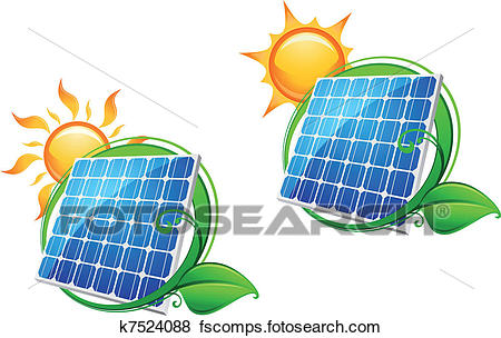 450x304 Clip Art Of Solar Energy Panel K7524088