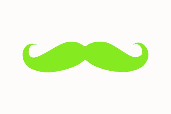 600x400 Chartuse Mustache Clip Art
