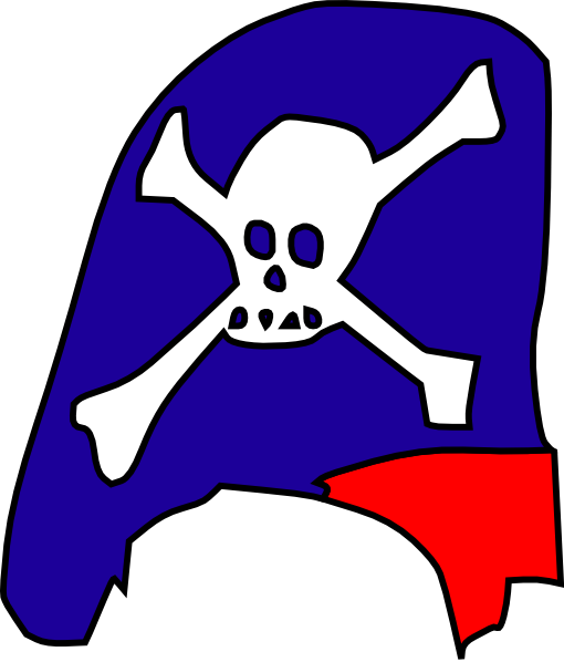 510x598 Cartoon Pirate Hat Skull Bones Clip Art