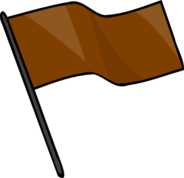 600x580 Brown Flag Svg Clip Arts Download
