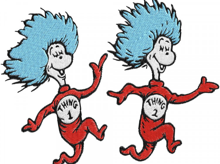 750x560 Dr Seuss Clipart Thing 1 And Thing 2