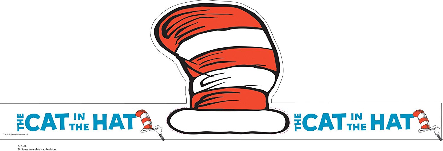 1500x513 Eureka Dr. Seuss's Cat In The Hat Wearable Hat Cut Out