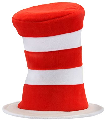 342x406 Elope Dr. Seuss Cat In The Hat Deluxe Velboa Hat Clothing