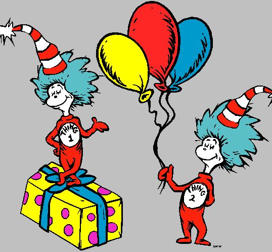 538x498 Cat In The Hat Thing 1 And 2 Printable Clip Art Clipart