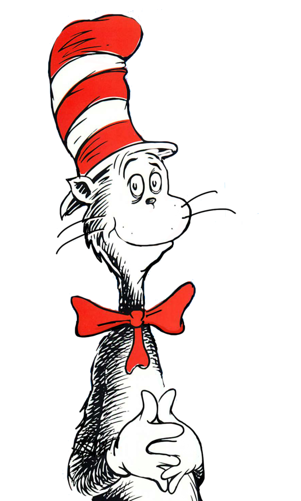 615x1024 Cat In The Hat Clipart Black And White