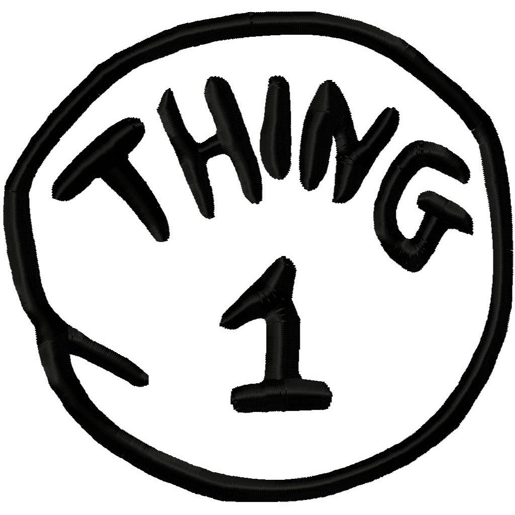 1024x1024 Clipart Thing 1 And Thing 2