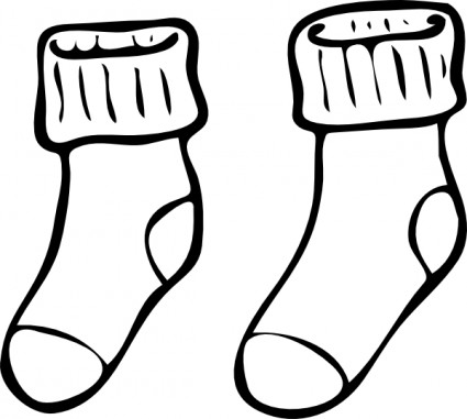 425x381 Clothing Pair Of Haning Socks Clip Art Display Boards