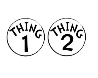 340x270 Dr Seuss Coloring Pages Thing 1 And Thing 2 Clipart Panda