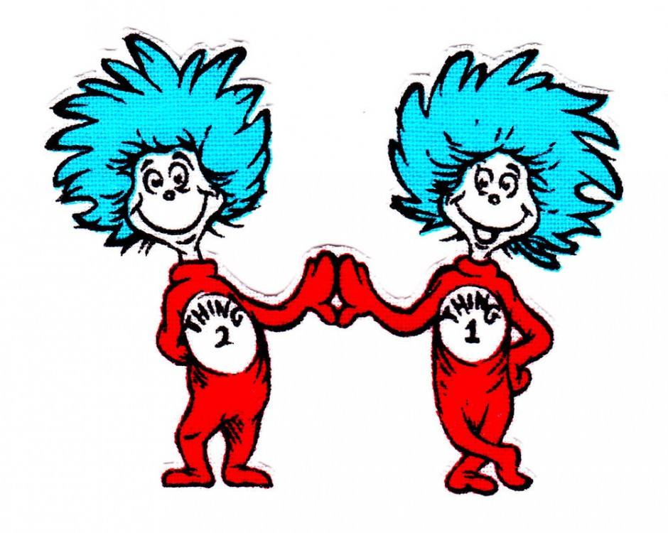 940x750 Dr Seuss Cat In The Hat Thing 1 And 2 Clip Art Google Search 4k