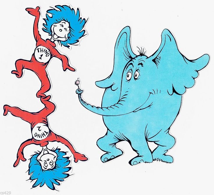 736x669 Thing 1 And Thing 2 Cat In The Hat Clipart