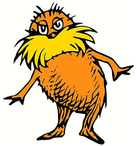 281x300 5 9 Dr Seuss Cat Hat Lorax Wall Sticker Glossy Cut Out Border